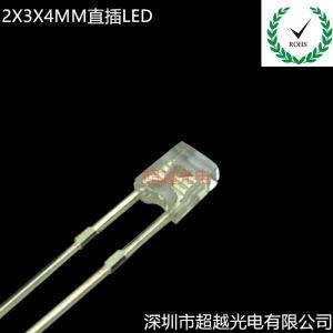 2X3X4方形直插LED